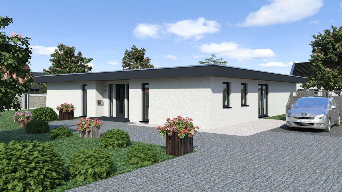 Bungalow Mit Flachdach. bungalow modern mit flachdach von ytong bausatzhaus. architektur tm vis ...